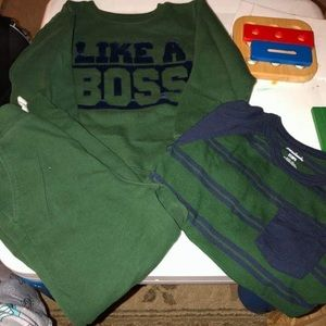 Whole set outfit 5t sweatshirt 4t shirt and pants